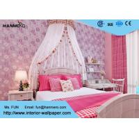 Wholesale Bedding Room Purple Modern Removable Wallpaper For Bedroom Walls , Moisture Proof from china suppliers