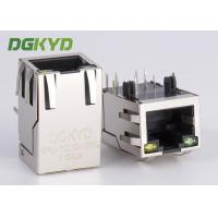 Wholesale 1x1 single port RJ45 Ethernet Connector 100Mb cat 5 manetic modular jack G/Y led from china suppliers
