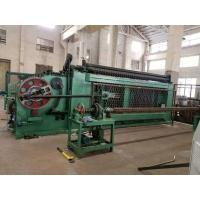 China High Efficiency Gabion Wire Mesh Machine Green Color With Automatic Oil System on sale