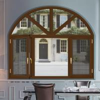 Wholesale Weatherstripping Arched Double Casement Windows With 5 mm Thickness Tempered Glass from china suppliers