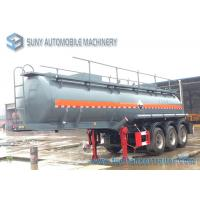 Wholesale 3 Axle Sulphuric Acid 18000L Fuel Tanker Semi Trailer 9980*2490*3800mm from china suppliers