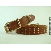 soft leather studded dog collar