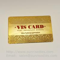 Quality Printed etching business cards wholesale in China etching process factory for sale
