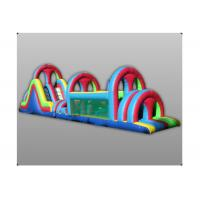 Wholesale 0.5mm PVC Tarpaulin Inflatable Obstacle Course Tunnel Game Double Slide from china suppliers