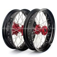 Wholesale CNC Anodized 17 Inch Dirt Bike Supermoto Wheels With Spokes Rims Hubs 36 Holes from china suppliers