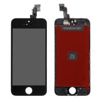 For OEM Apple iPhone 5C LCD Screen and Digitizer Assembly with Frame Replacement - Black - Grade A+