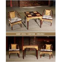 Wholesale bamboo rattan chair table set, living room chair table, classic chair table, #1136 from china suppliers