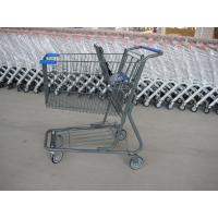 Wholesale Supermarket Wire Shopping Basket With Wheels , Commercial Shopping Trolley from china suppliers