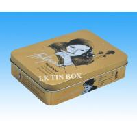 Wholesale Large Hinged Rectangular Tin Box Cake Biscuit Chocolate Cookies Tin Box from china suppliers