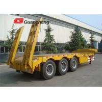Wholesale Heavy duty 4 axle 60 tons 13m gooseneck lowboy semi trailer with Triangle tire from china suppliers