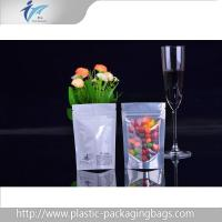 Wholesale Heat seal ziplock top Stand Up Pouches with plastic candy packaging clear window from china suppliers