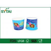 Wholesale Blue Colorful Paper Ice Cream Cups , Biodegradable custom printed ice cream cups from china suppliers