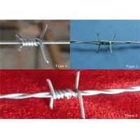 Wholesale 16*16 Double Strand Barbed Wire Coil For Security Fence , High Tensile from china suppliers