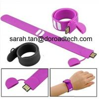 Wholesale High Quality Silicone Bracelet USB2.0 Flash Pen Drive Customized Logo Printing from china suppliers
