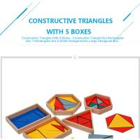 Buy cheap Tiger Montessori - Constructive Triangles With 5 Boxes made of beech wood from wholesalers