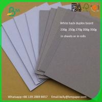 Wholesale 1.5mm 2mm 3mm duplex board White Front Grey Back Board on China market selling from china suppliers