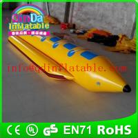 Wholesale QinDa inflatable water ski boat floating boat for sale drag by motor boat from china suppliers