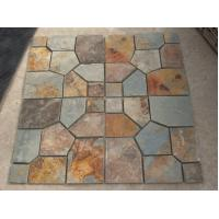 Wholesale Rusty Split Face Slate Flagstone Multicolor Slate Meshed Flagstone Natural Slate Flagstone Pavers from china suppliers