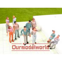 Wholesale 4.8CM Architectural Scale Model People Dark Green White ABS / Acrylic from china suppliers