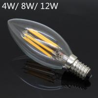 Wholesale New Design LED Filament E14 Bulb 4W 6W 8W 12W AC 220V 230V Dimmable Lamp Edison Glass Candle Lights Lighting from china suppliers