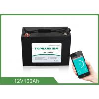 Wholesale ABS Casing Bluetooth Lithium Battery 12V 100Ah For RV Camper / Caravan from china suppliers