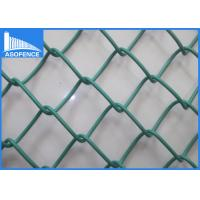 Wholesale Hot Dipped Garden Chain Link Fence Panels , Decorative Sports Ground Fencing from china suppliers