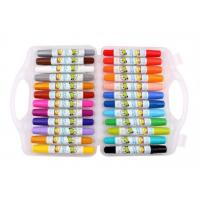 Wholesale Eco-friendly fancy 24 colors  Non-toxic wax crayon set/ 24colors rotating body crayon for children from china suppliers