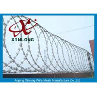 Wholesale Security Fencing Cross Razor Barbed Wire / Stainless Steel Razor Combat Wire from china suppliers