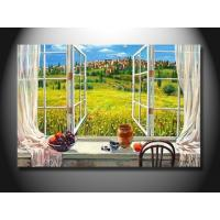 Wholesale Eco - Friendly Fashion Window Scenery Handmade Oil Painting mcfj1010 from china suppliers