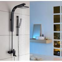 Wholesale Proffesional Rain Shower Set Black Color Building Project Material from china suppliers