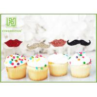 Wholesale Little Man Mustache Cupcake Toppers Cake Decorating Tools 150mm Length from china suppliers