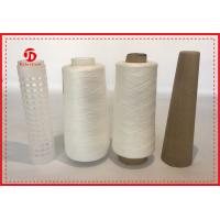 Wholesale 100% Spun Polyester Material Yarn , Raw White Yarn For Sewing Plastic / Paper Cone from china suppliers