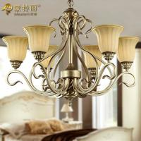 Wholesale 6 Light Large Modern Metal Chandelier , Retro and Traditional Custom Chandeliers from china suppliers