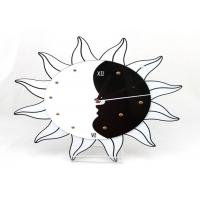 Wholesale Battery Operated Plastic Gear Wall Clocks Black And White , Sun Shape from china suppliers