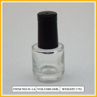 Wholesale 6ml Round Clear Nail Polish Containers With Blck Plastic Cap And Brush from china suppliers