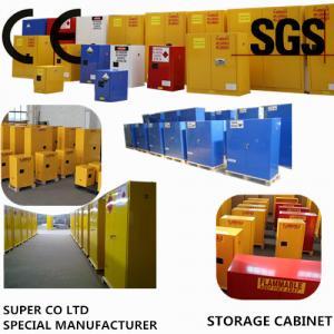 Quality Blue Metal Corrosive Storage Cabinet / Hazardous Storage Cupboards 30 Gallon for sale