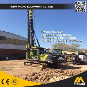 Wholesale TYSIM KR80A Piling Rig Machine 22m Interlocking Kelly Bar Diameter 1000mm from china suppliers