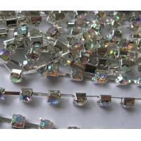 Wholesale chain stones /cup chain glass stones crystal AB from china suppliers