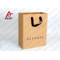 Wholesale Black Hot Foil Clothes Shop Custom Printed Paper Bags Matte lamination from china suppliers