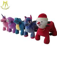 Wholesale Hansel  happy rides on animal motorized plush riding animals family entertainment center from china suppliers