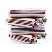 Quality Jacquard Striped Terry Customized Cotton Bath Towels 60*120cm AZO Free for sale