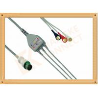 Wholesale Mindray ECG Patient Cable 12 Pin For T5 and T8 3 Leads Snap AHA from china suppliers