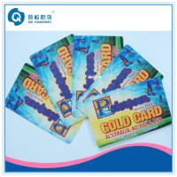 Wholesale PVC Plastic Business Card Printing , Full Color PVC Membership Card from china suppliers