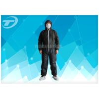 Wholesale Black Disposable Coveralls Suit Waterproof With Knitted Cuff from china suppliers
