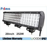 China 20inch 252W Led Headlight Bar Quad Row CREE Crane Fire Engine Bar 4 Rows Led Bar on sale