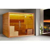 Wholesale Monalisa M-6053 fashion luxury dry sauna room nudist sauna enclosure with LED lights European style sauna house sauna from china suppliers