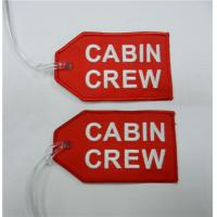 Wholesale Cabin Crew Fabric Embroidery Keychain With Transparent Line from china suppliers