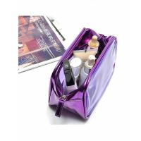 Travel cosmetic bag, made of polyester and PVC, foldable with many pockets,OEM welcomed
