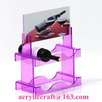 Wholesale New style custom colorful PMMA wine rack China acrylic wine holder for retail from china suppliers