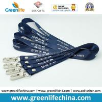 Wholesale Stanard Working Dark Blue Custom Printing Polyester Neck Lanyard w/Delux Swivel Hook from china suppliers